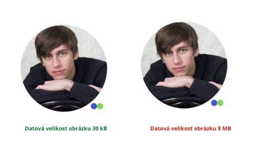 Srovnání datové velikosti obrázků